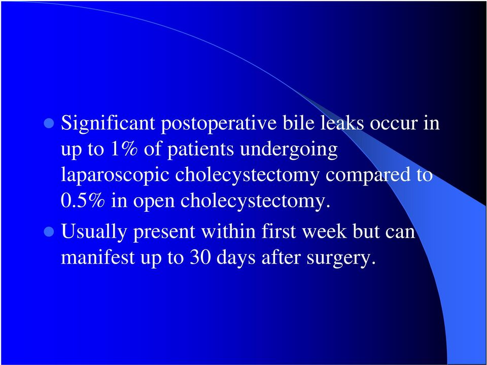 compared to 0.5% in open cholecystectomy.