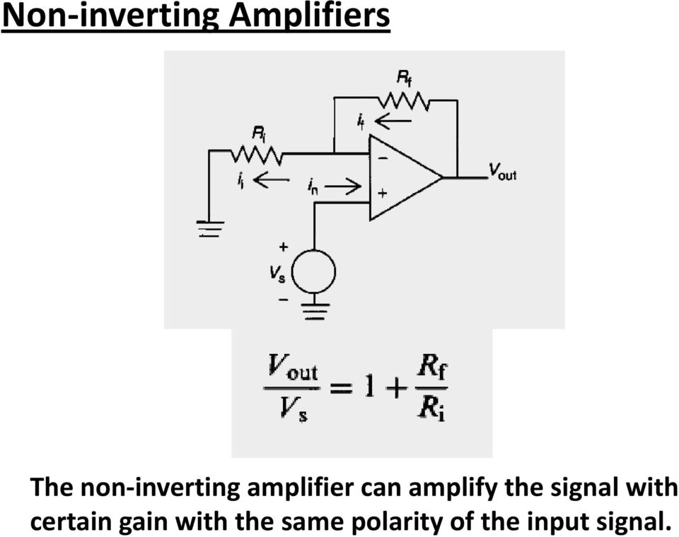 amplify the signal with certain