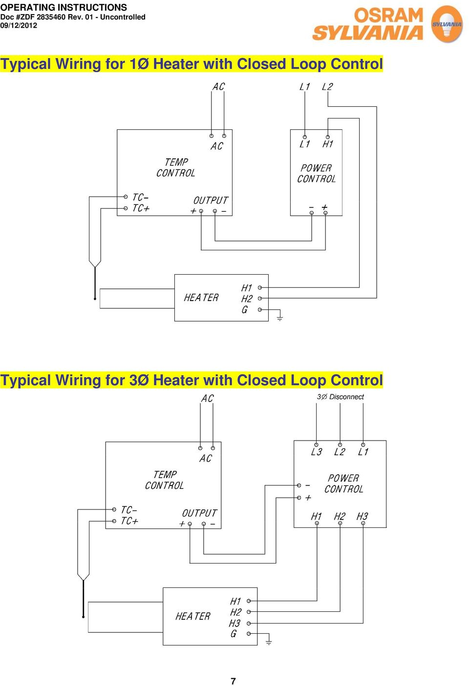 Control Typical Wiring for