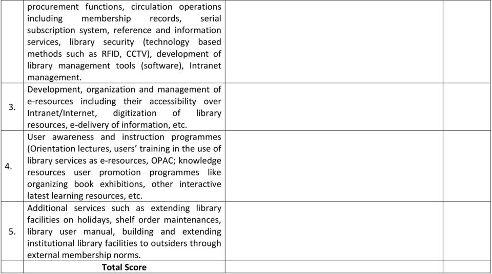 CCTV), development of library management tools (software), Intranet management.