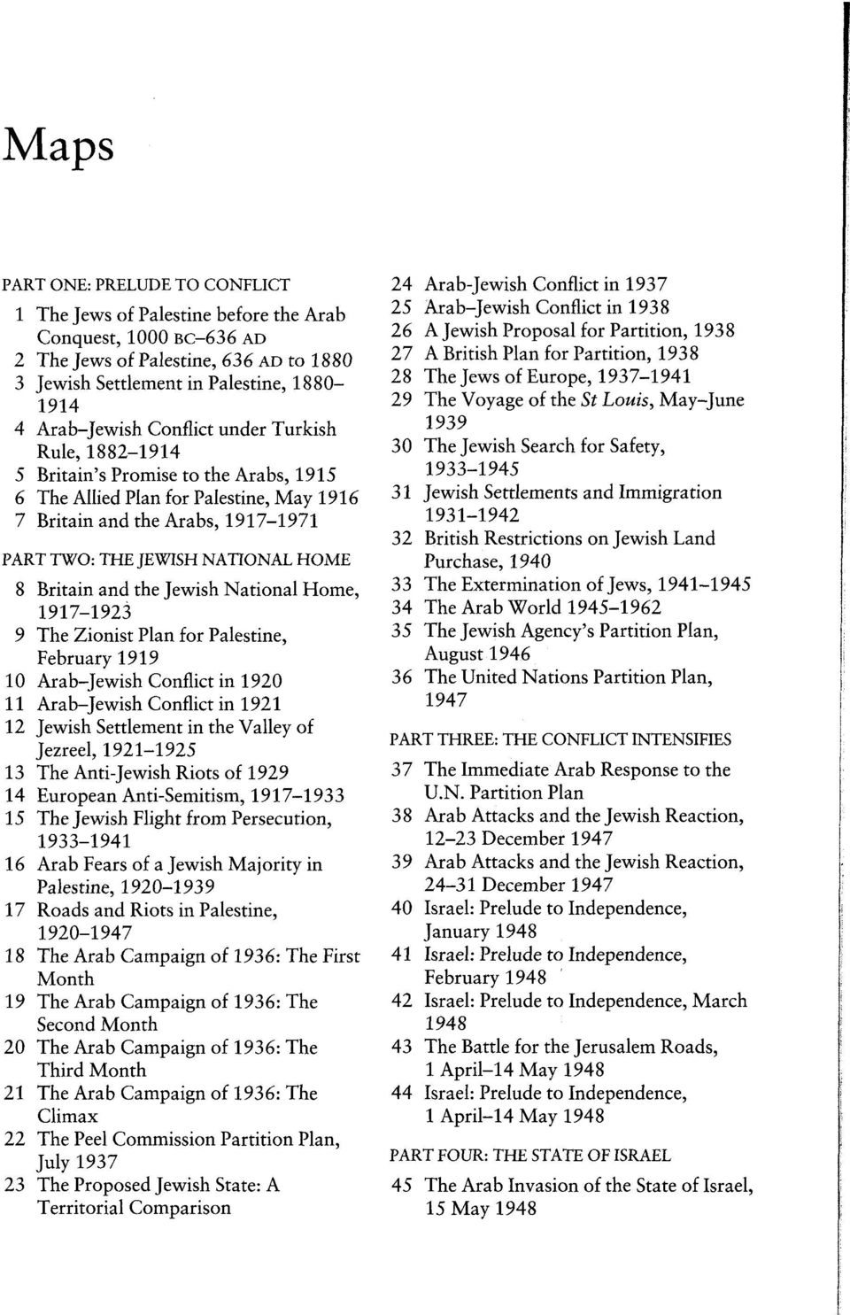 and the Jewish National Home, 1917-1923 9 The Zionist Plan for Palestine, February 1919 10 Arab-Jewish Conflict in 1920 11 Arab-Jewish Conflict in 1921 12 Jewish Settlement in the Valley of Jezreel,