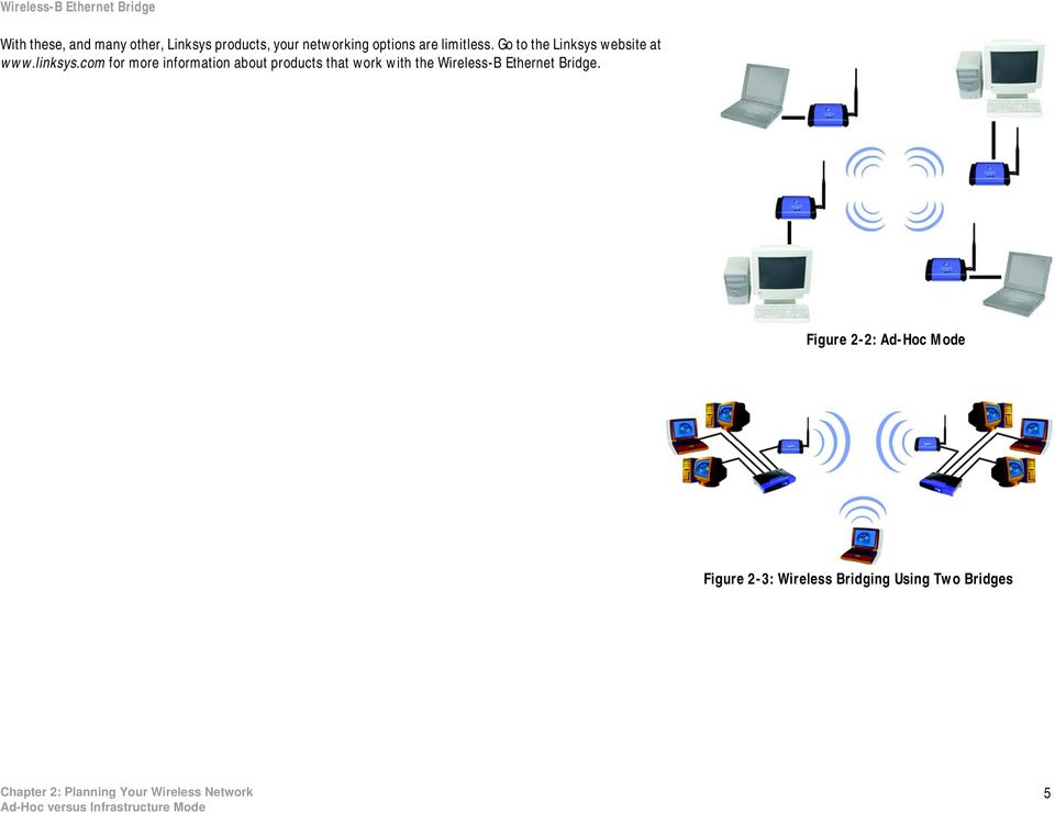 com for more information about products that work with the Wireless-B Ethernet Bridge.