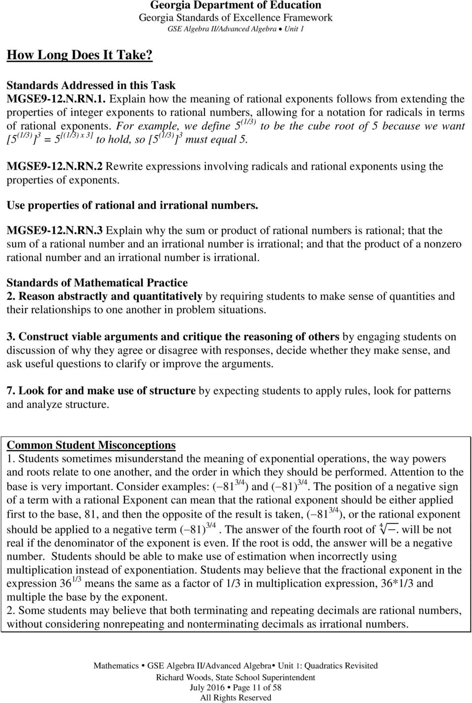 Georgia standards of excellence curriculum frameworks mathematics explain how the meaning of rational exponents follows from extending the properties of integer exponents to fandeluxe Choice Image