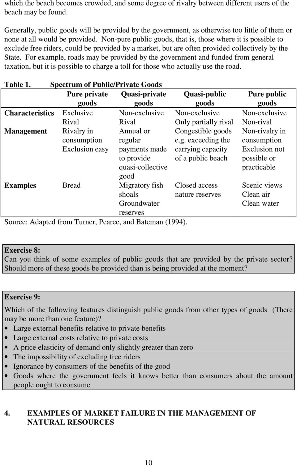 difference between public and private goods with examples