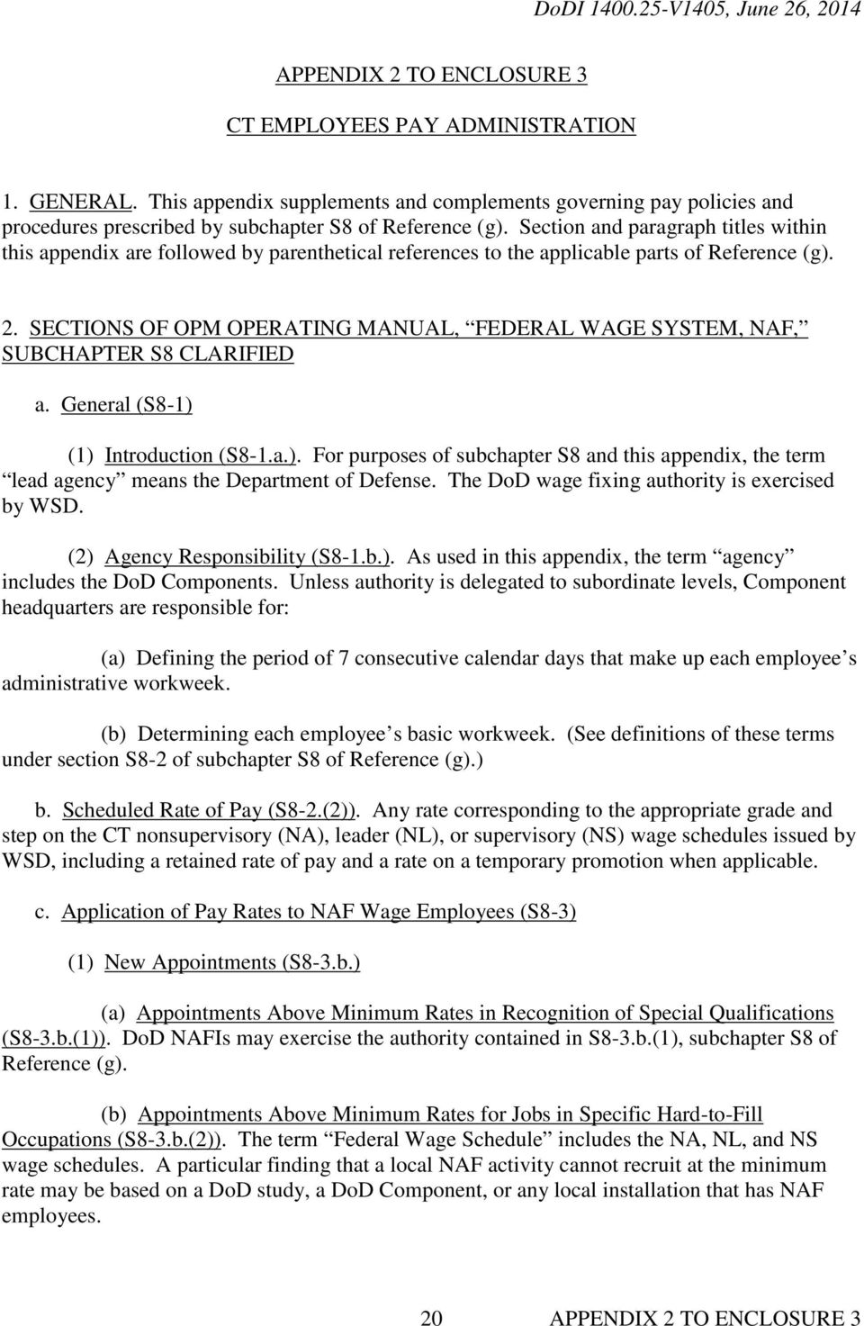 department of defense instruction pdf rh docplayer net  opm operating manual federal wage system appendix j