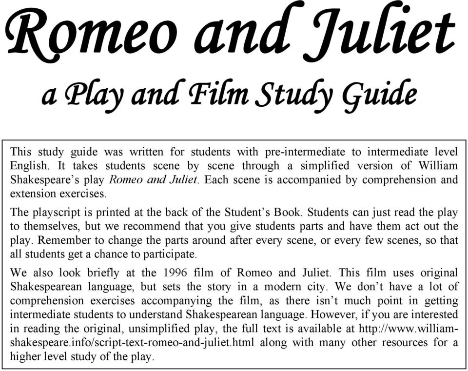 Heart Stopping Topics for Your Romeo and Juliet Essay