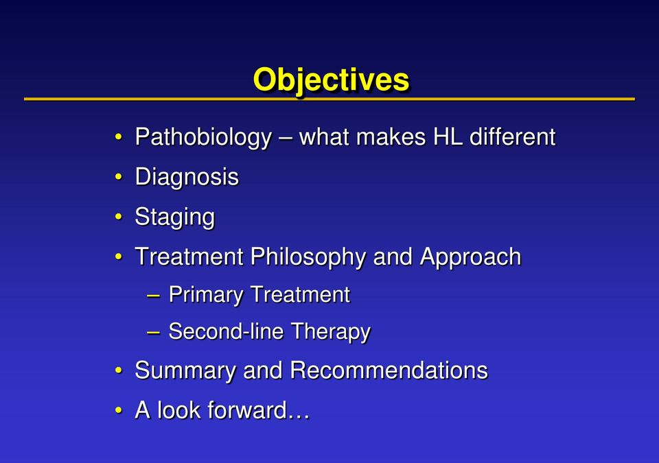 Philosophy and Approach Primary Treatment