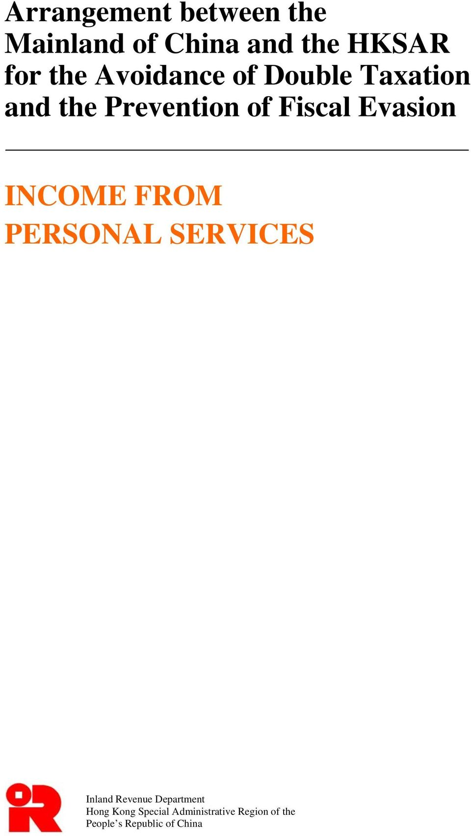 Evasion INCOME FROM PERSONAL SERVICES Inland Revenue Department