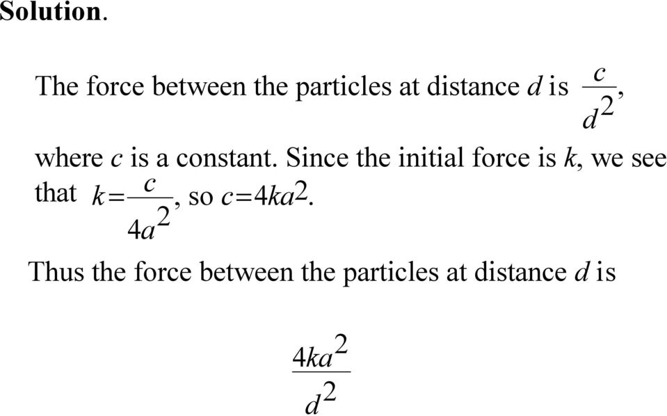 d where c is a constant.