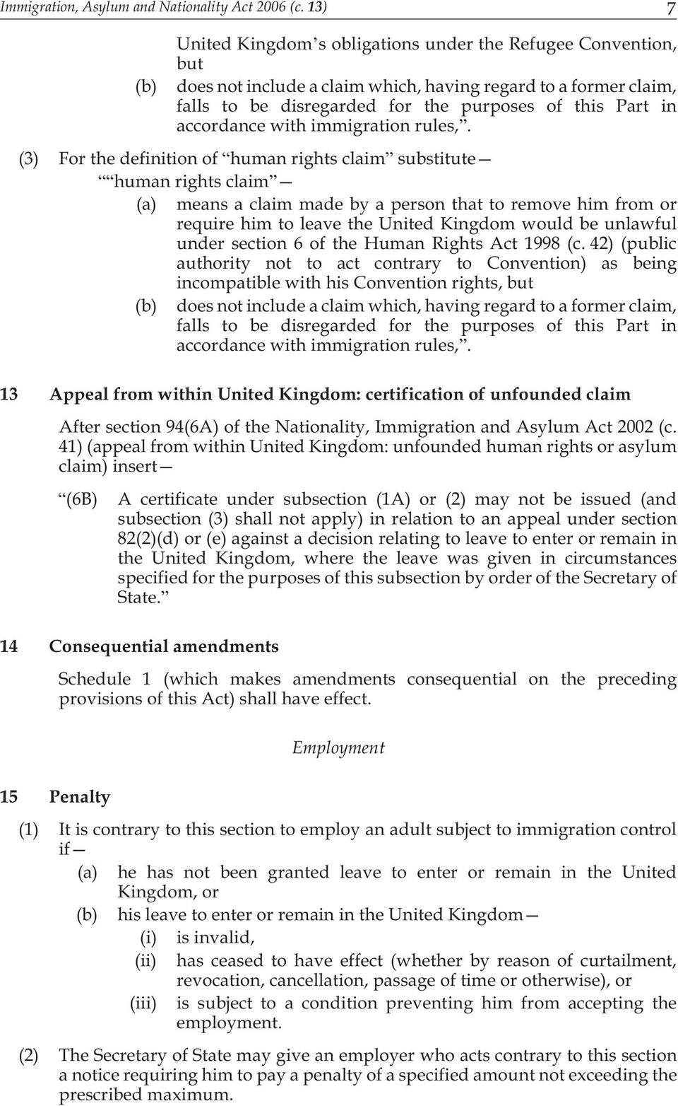 accordance with immigration rules,.