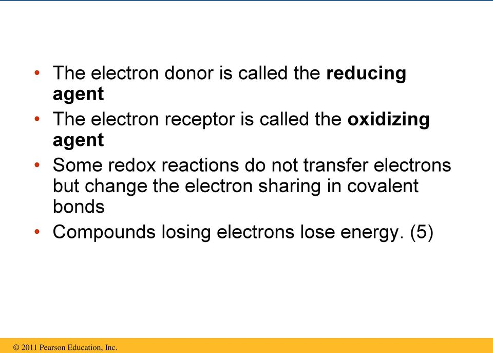 reactions do not transfer electrons but change the electron