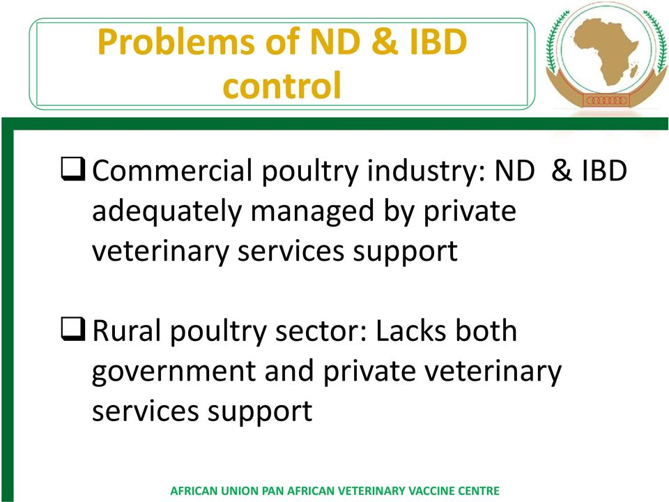 veterinary services support Rural poultry sector: