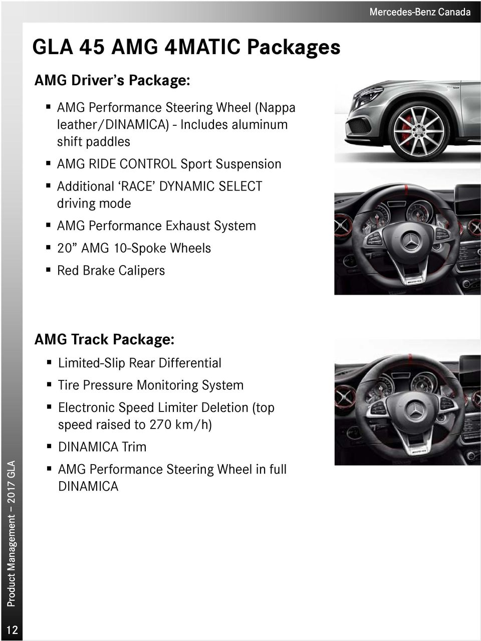 AMG 10-Spoke Wheels Red Brake Calipers AMG Track Package: Limited-Slip Rear Differential Tire Pressure Monitoring System