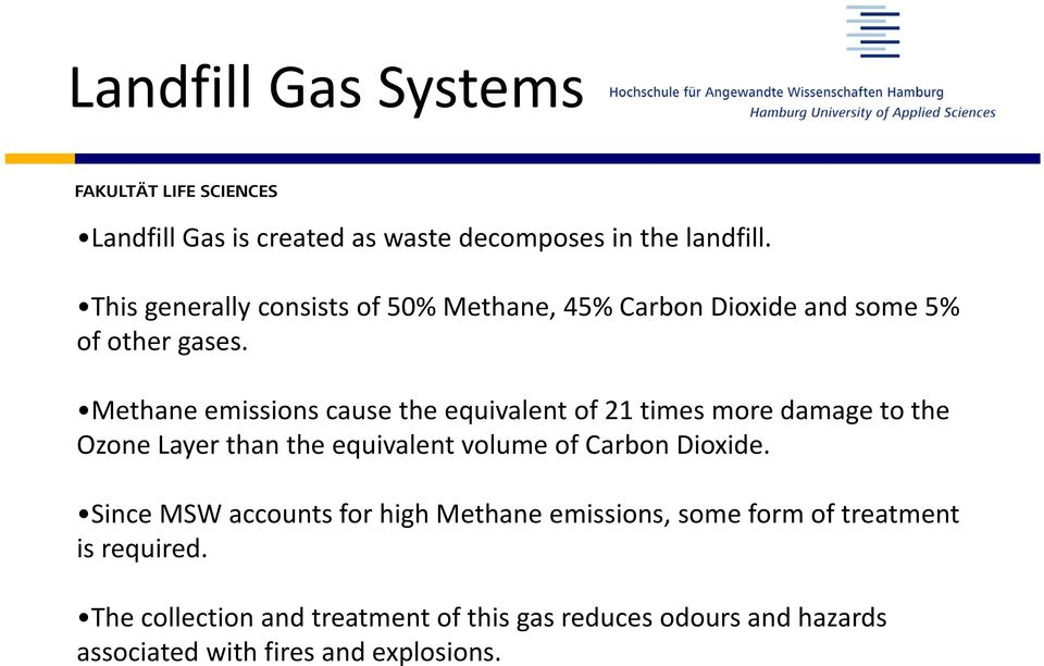 Methane emissions cause the equivalent of 21 times more damage to the Ozone Layer than the equivalent volume of Carbon