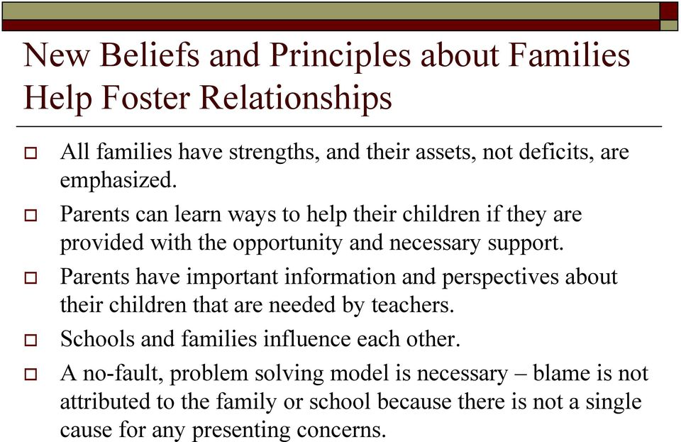 ! Parents can learn ways to help their children if they are provided with the opportunity and necessary support.