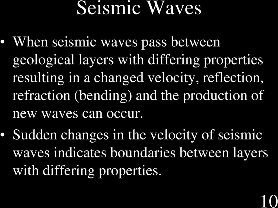 (bending) and the production of new waves can occur.