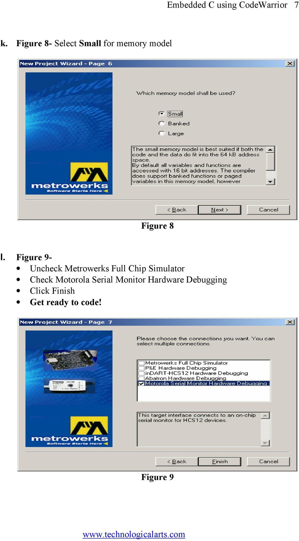 Figure 9- Uncheck Metrowerks Full Chip Simulator Check