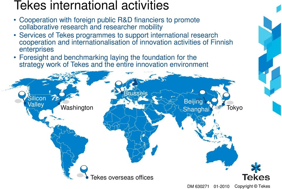 innovation activities of Finnish enterprises Foresight and benchmarking laying the foundation for the strategy work of Tekes