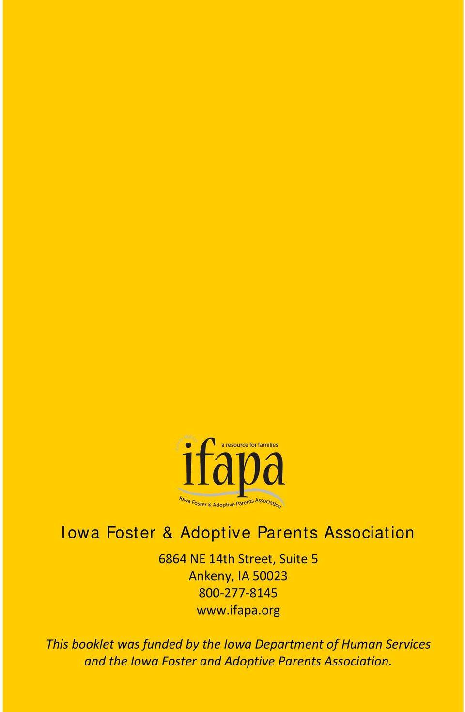 org This booklet was funded by the Iowa Department of