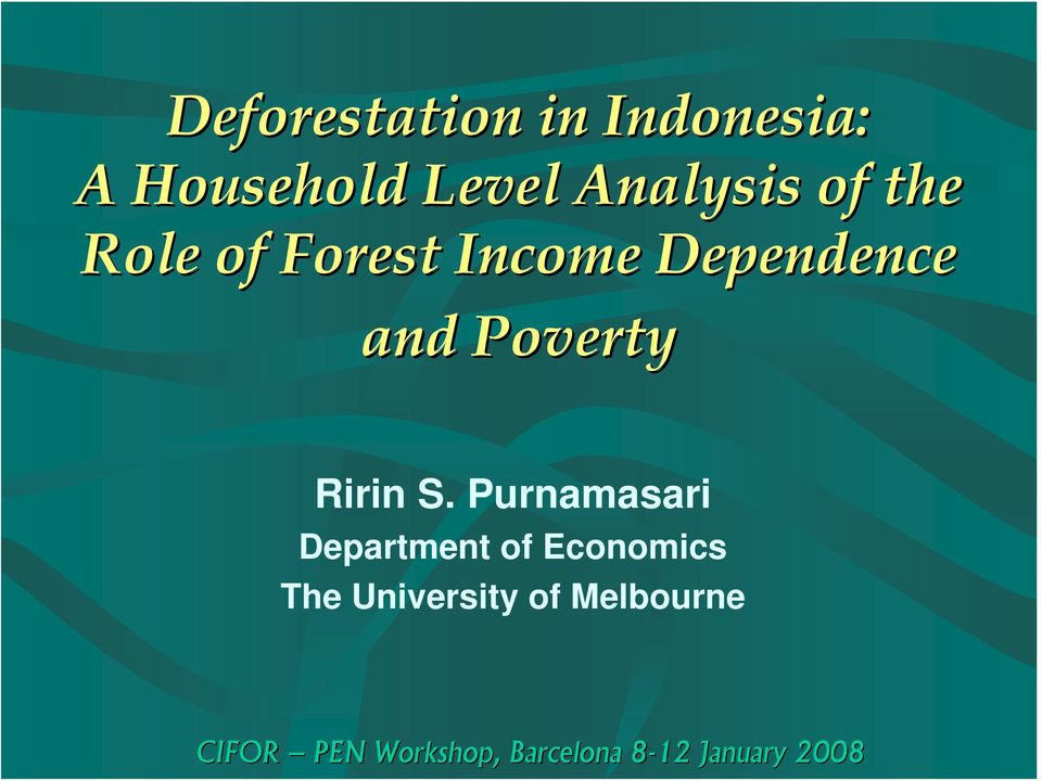 Dependence and Poverty Ririn S.