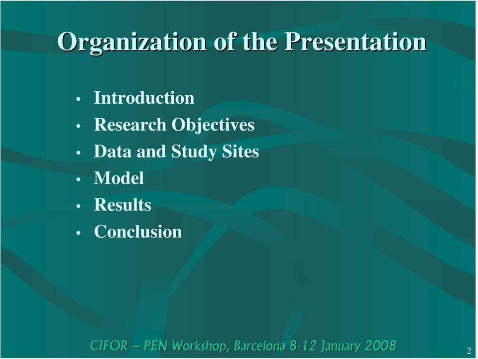 Research Objectives Data and