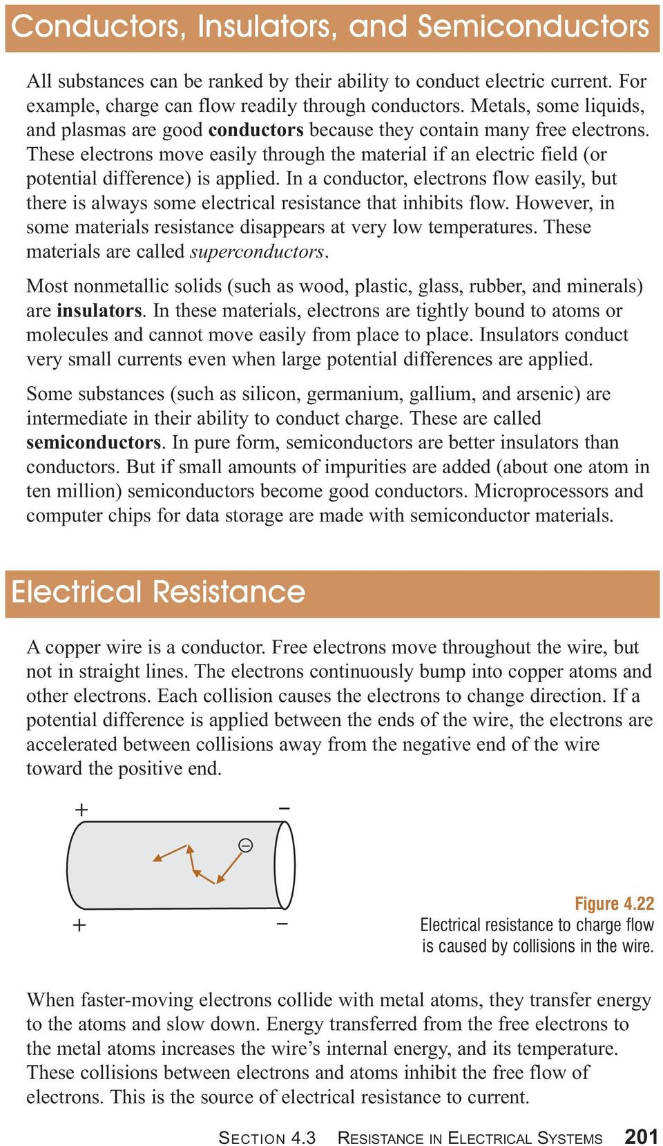 These electrons move easily through the material if an electric field (or potential difference) is applied.