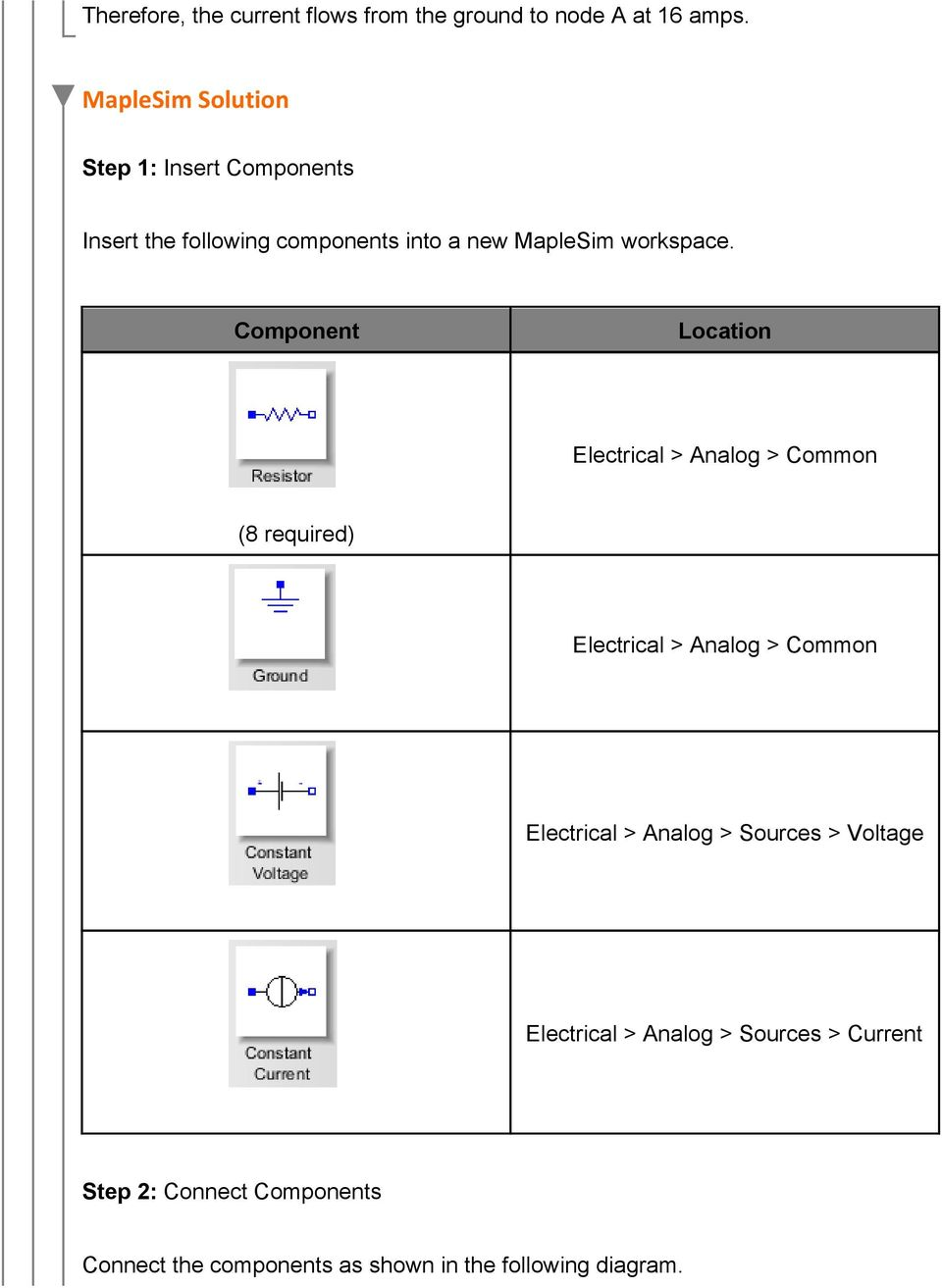 Component Location Electrical > Analog > Common (8 required) Electrical > Analog > Common Electrical >