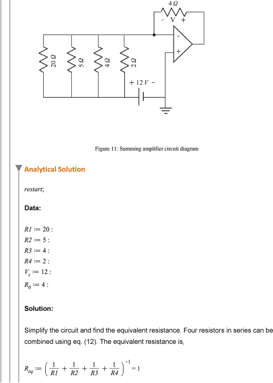 circuit and find the equivalent resistance.