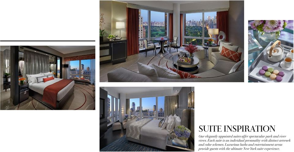 Each suite is an individual personality with distinct artwork and