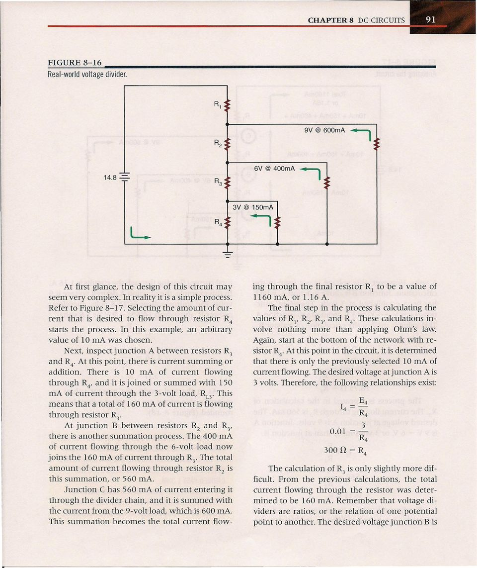 After Completing This Chapter The Student Should Be Able To Pdf Simple Circuit Is Called A Voltage Divider In Which Two Resistors Example An Arbitrary Value Of 10 Ma Was Chosen Next Inspect