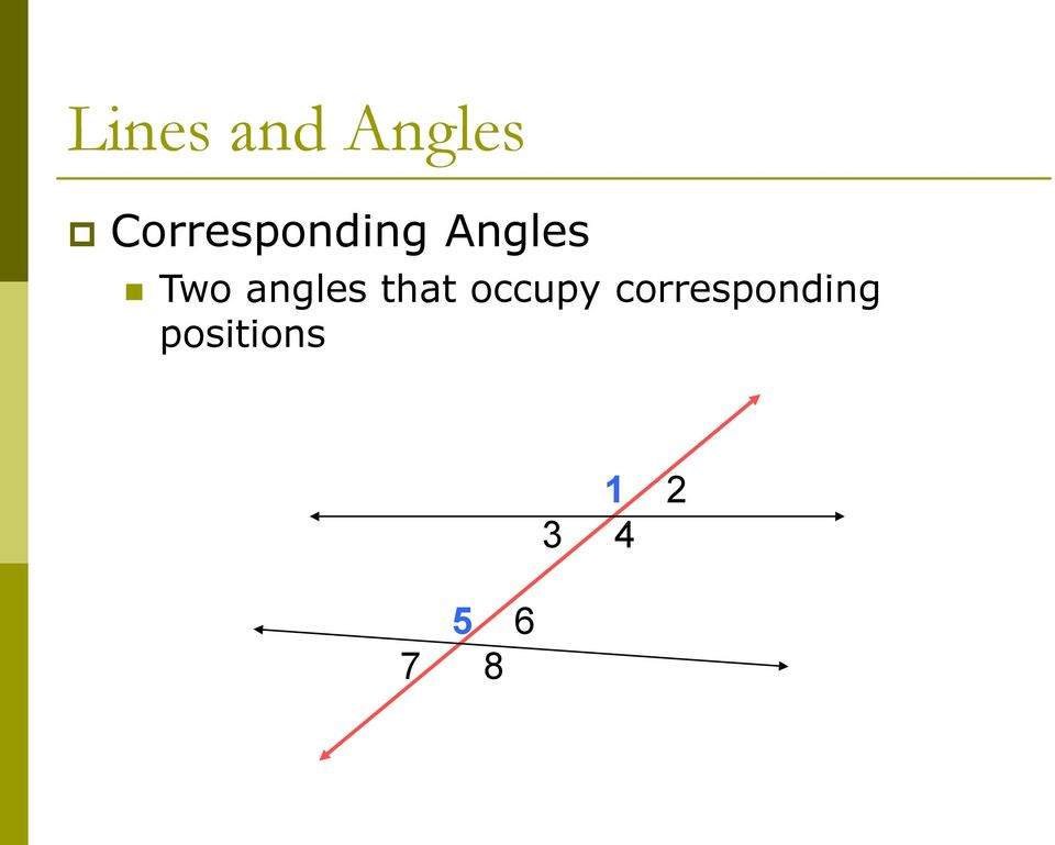 angles that occupy