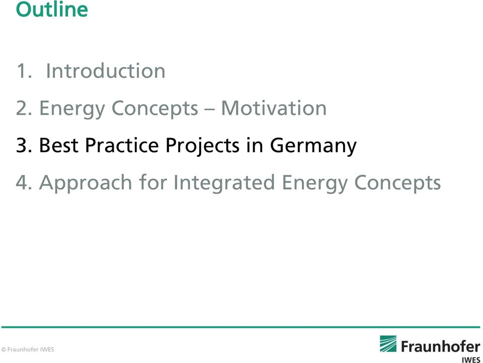 Best Practice Projects in Germany