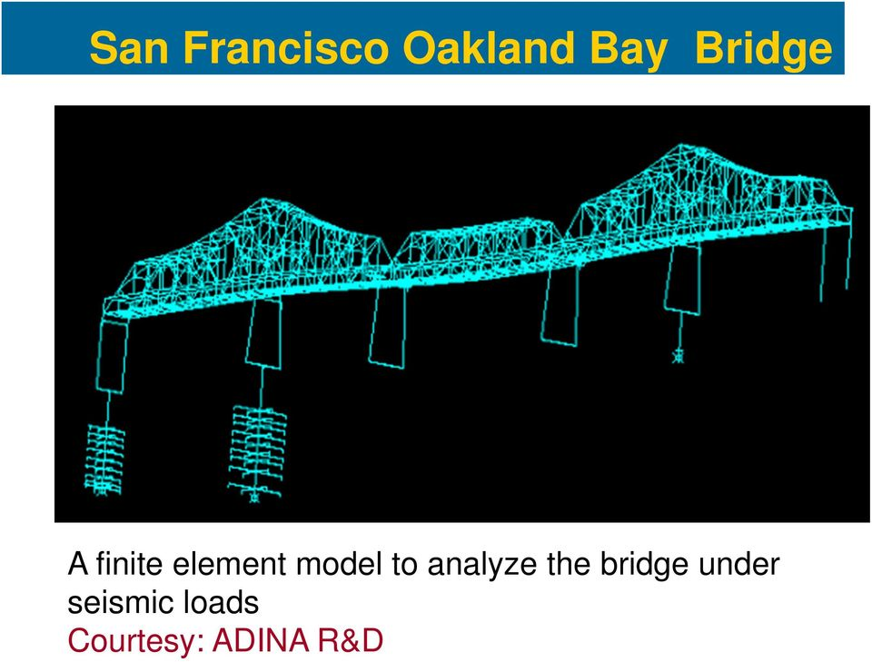 to analyze the bridge under