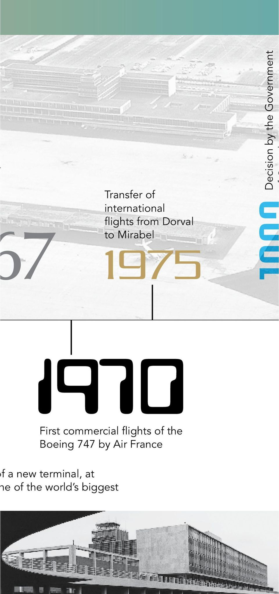First commercial flights of the Boeing 747 by Air
