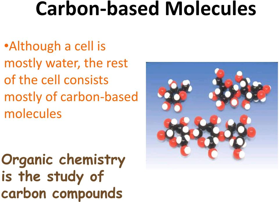 consists mostly of carbon-based molecules