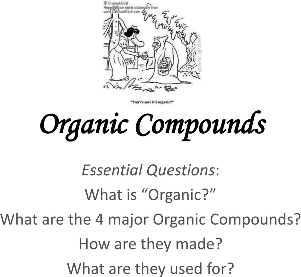 What are the 4 major Organic