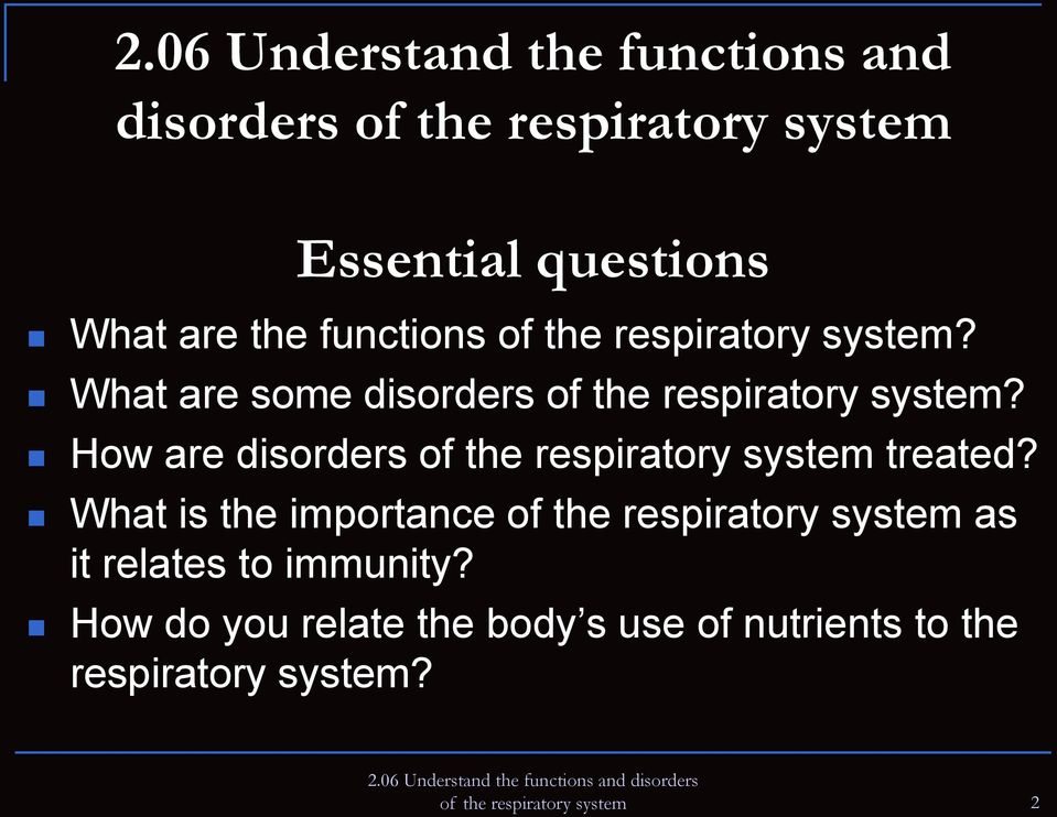How are disorders of the respiratory system treated?