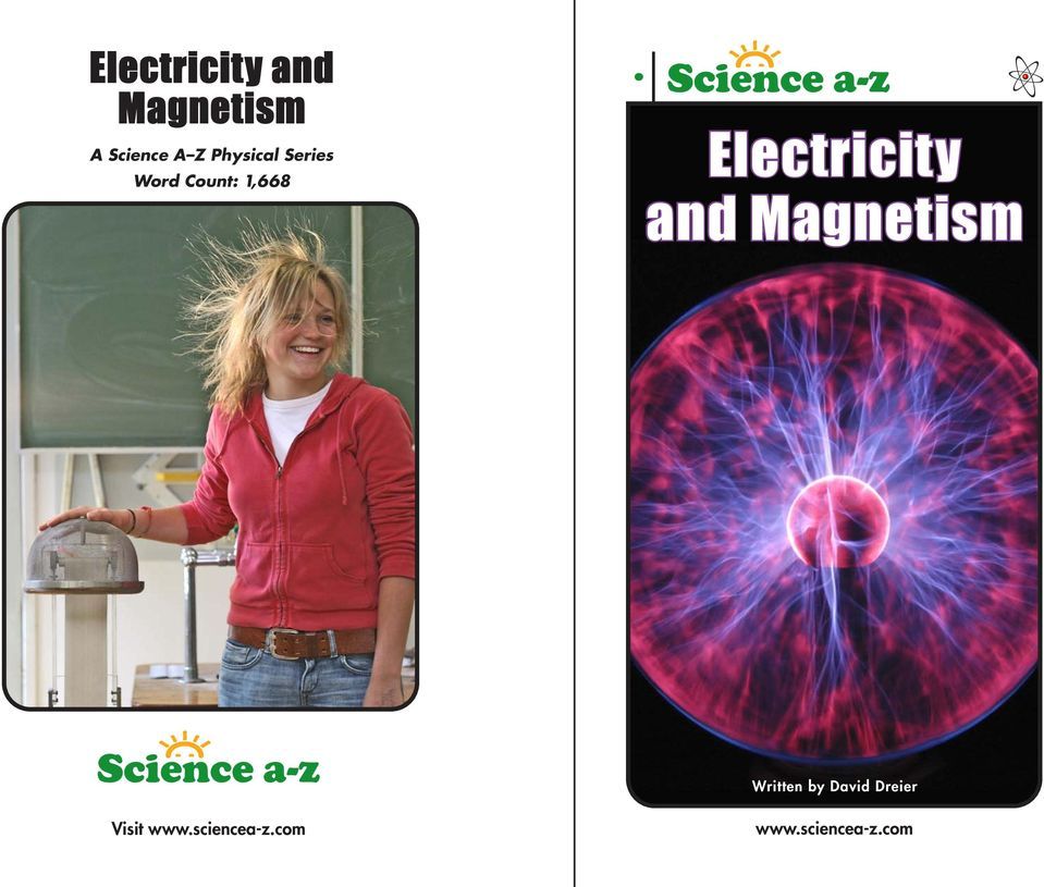 Electricity and Magnetism Written by