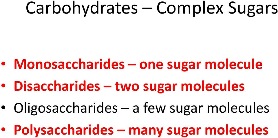 Disaccharides two sugar molecules