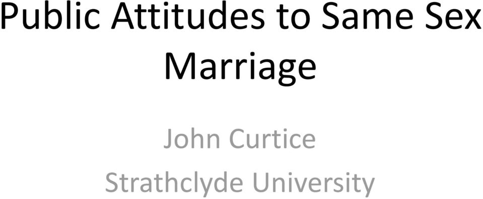 Marriage John