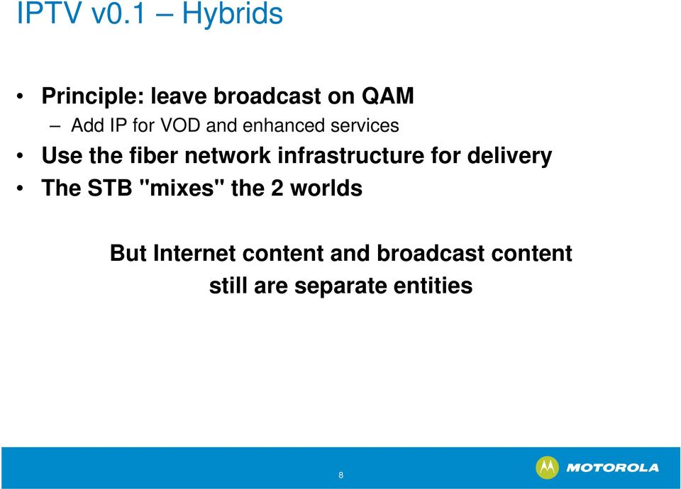 and enhanced services Use the fiber network infrastructure