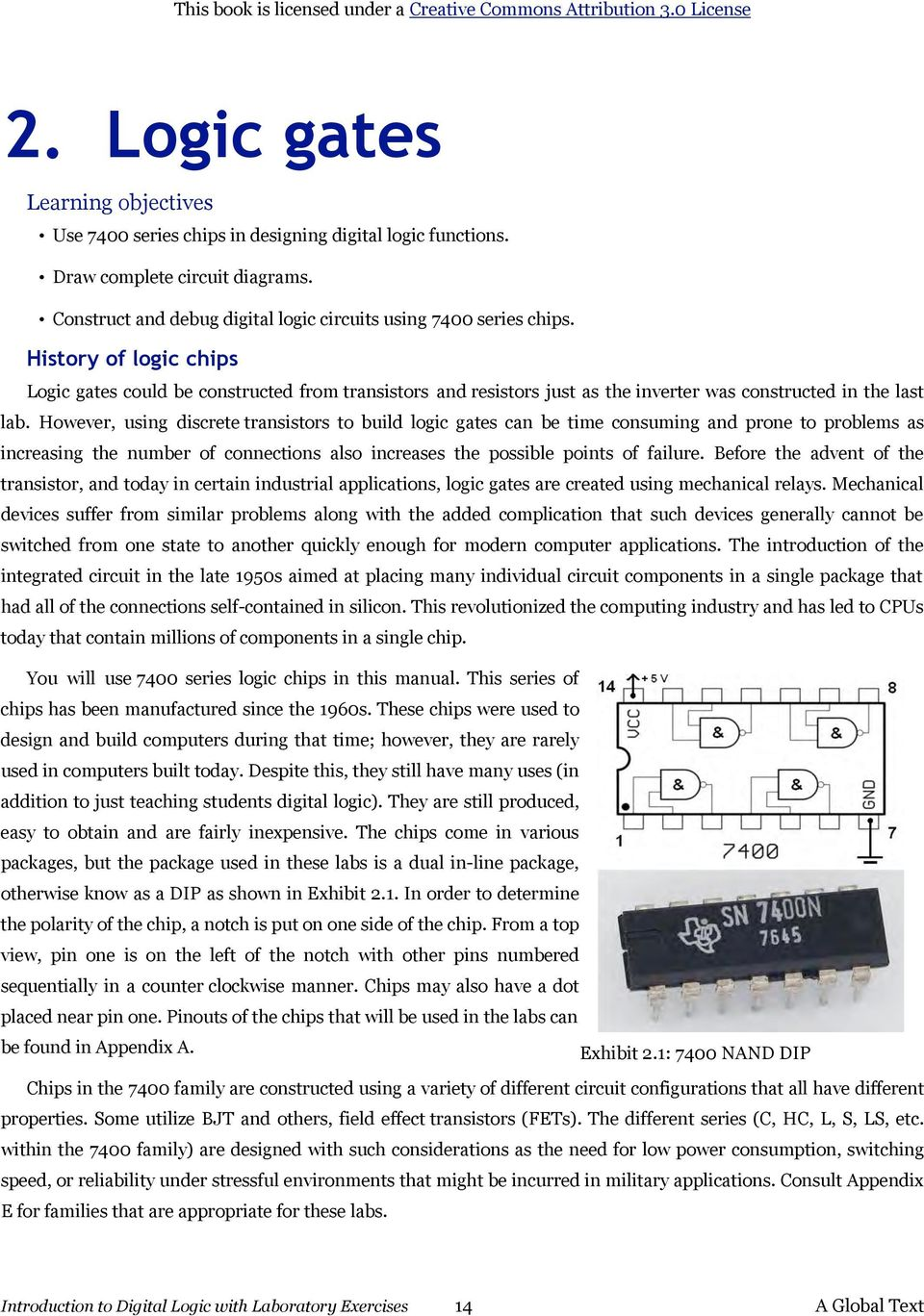 Introduction To Digital Logic With Laboratory Exercises Pdf Circuitlab Toggle Relay Flip Flop However Using Discrete Transistors Build Gates Can Be Time Consuming And Prone