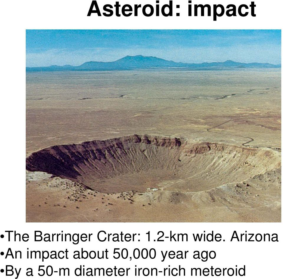 Arizona An impact about 50,000