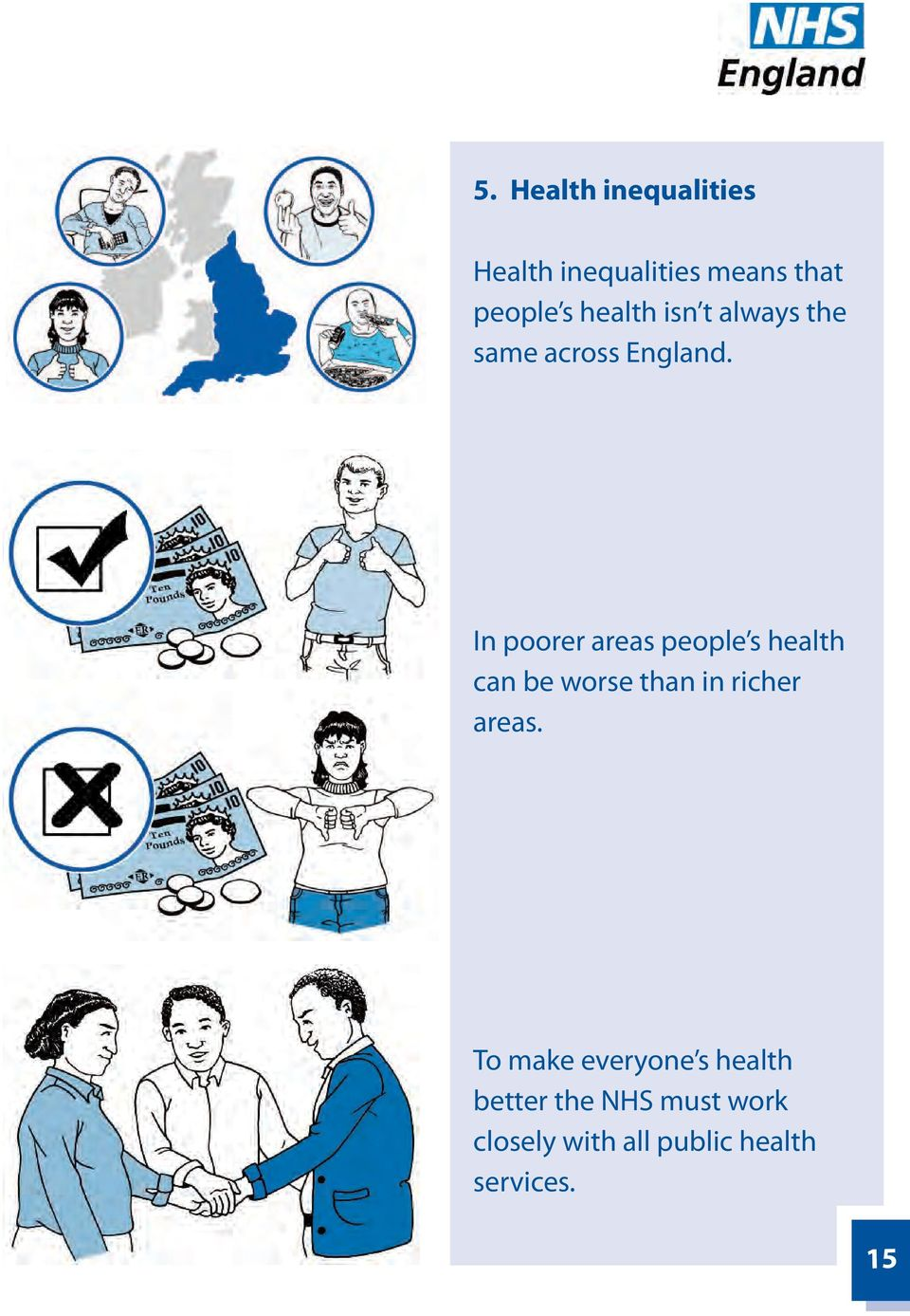In poorer areas people s health can be worse than in richer areas.