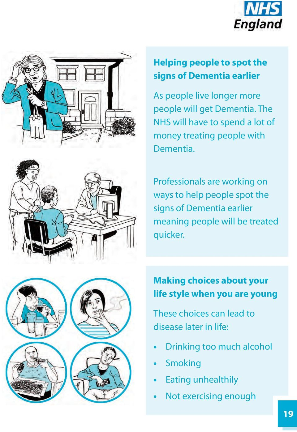 Professionals are working on ways to help people spot the signs of Dementia earlier meaning people will be treated