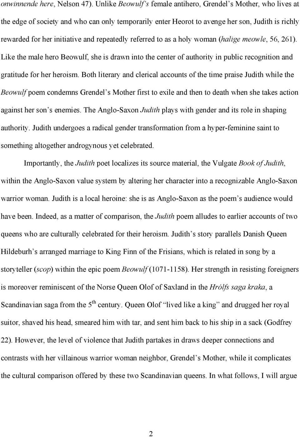 FEMALE HEROISM AND LEADERSHIP IN THE ANGLO-SAXON JUDITH - PDF