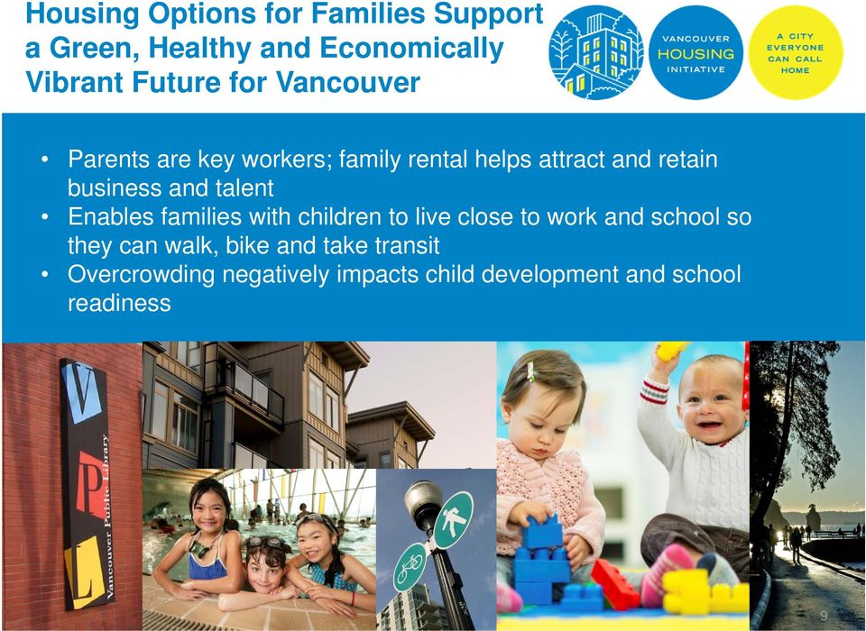 talent Enables families with children to live close to work and school so they can walk,
