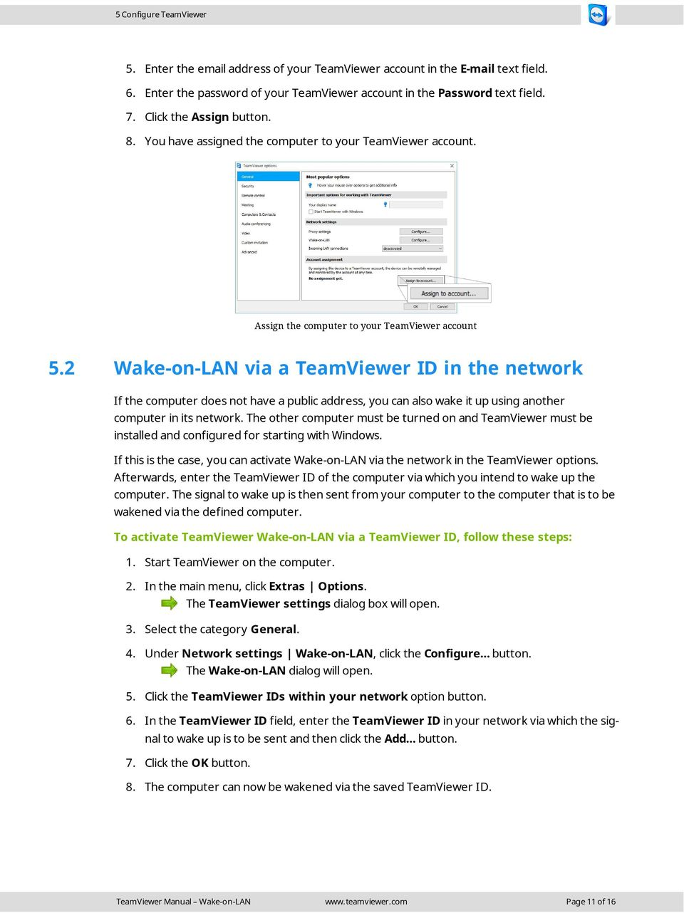 TeamViewer Manual Wake-on-LAN - PDF