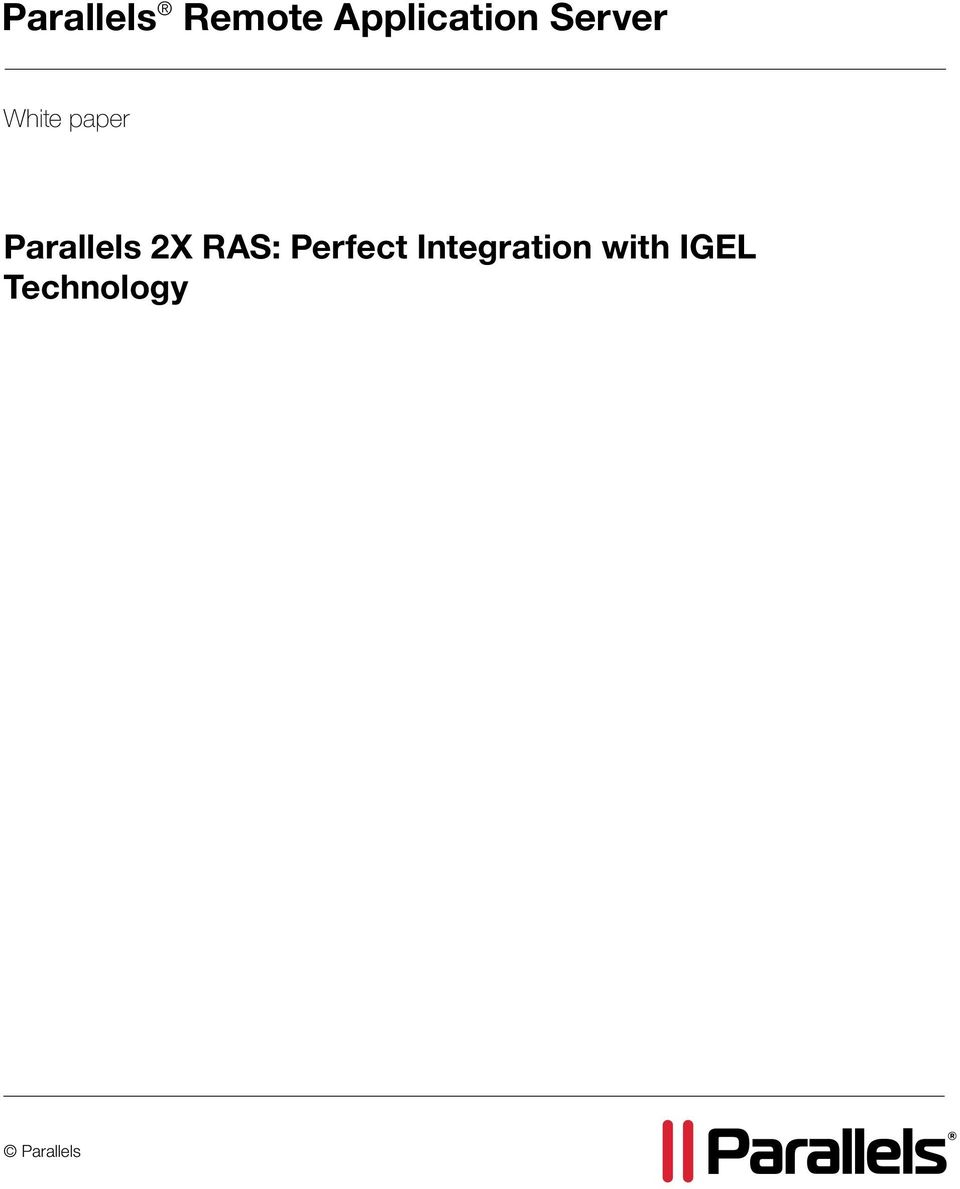 2X RAS: Perfect Integration
