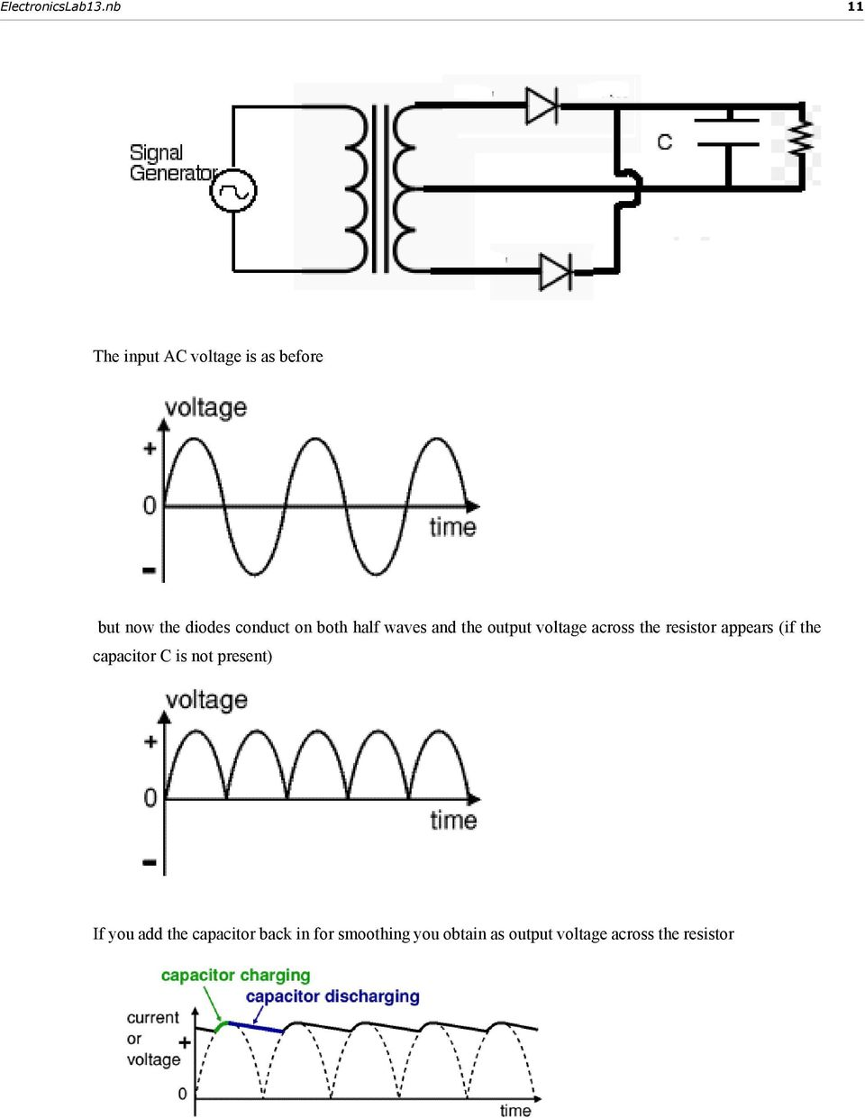 13 Diode Rectifiers Filters And Power Supplies Pdf Rectifiercircuits2 Appears If The Capacitor C Is Not Present You Add